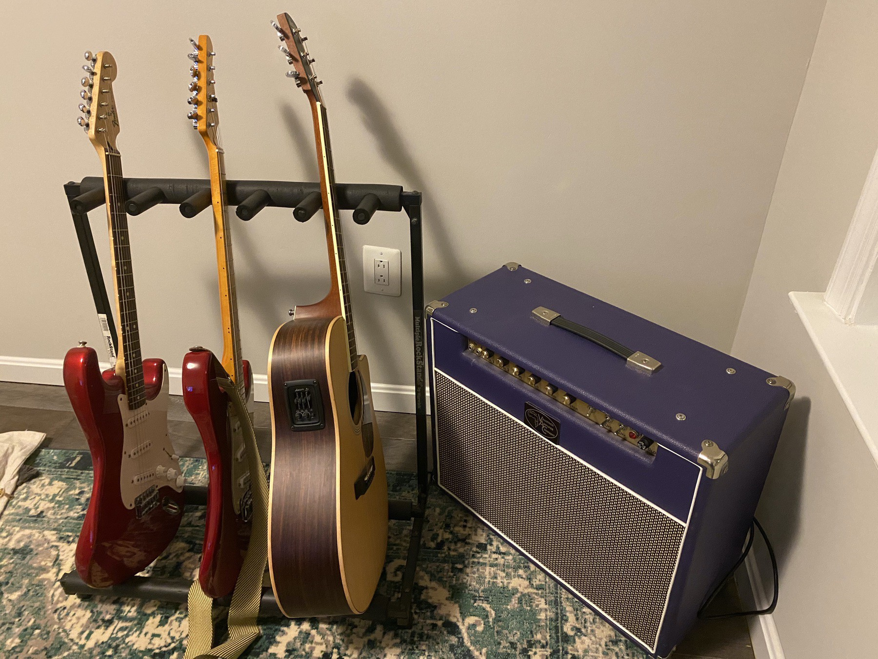 Jason's guitar and amp