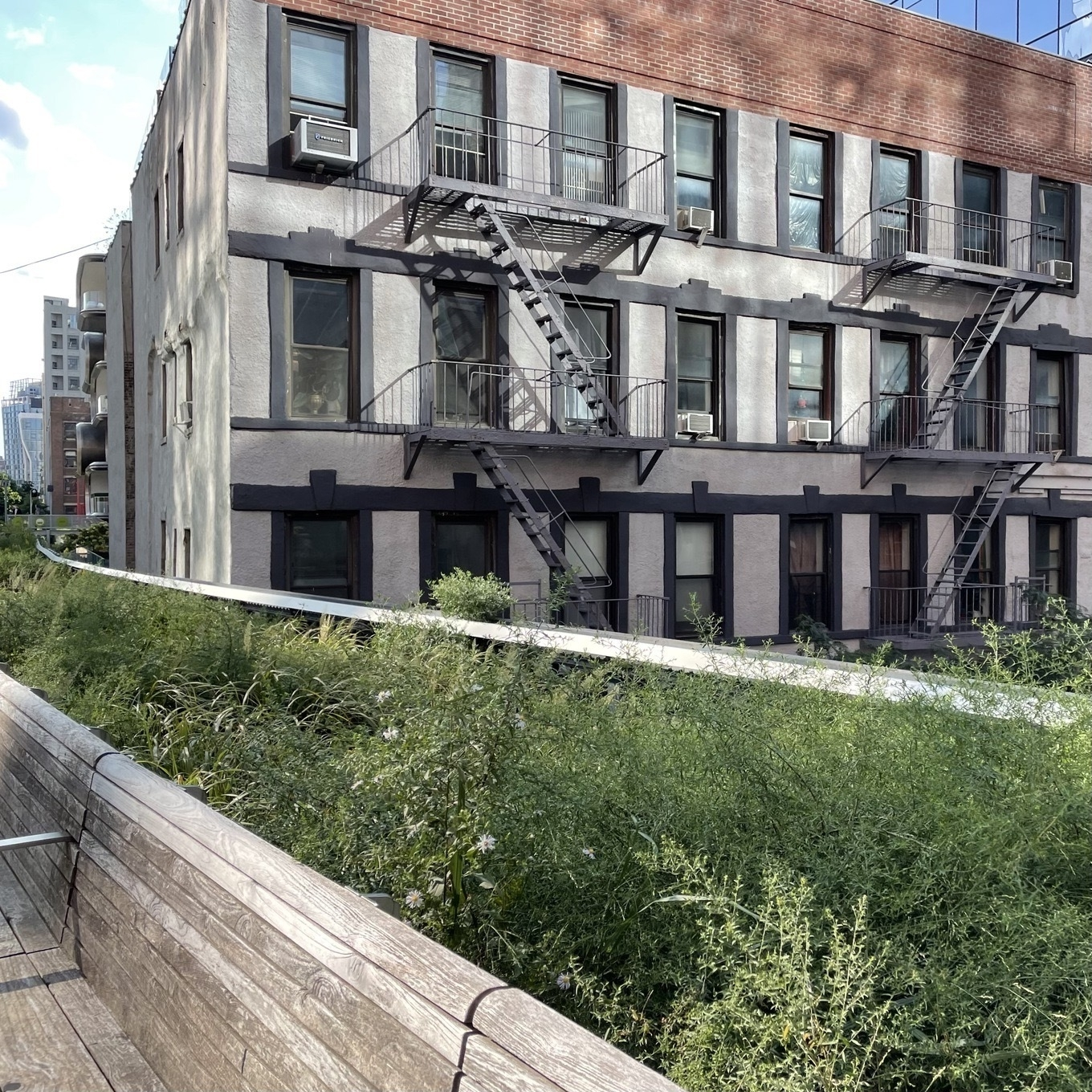 Apartments along the Highline